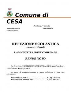 Servizio mensa Cesa